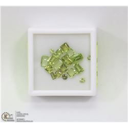 196) PERIDOTS, ASSORTED SHAPES & SIZES, APPROX