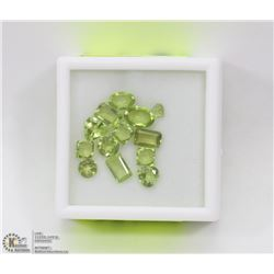 137) PERIDOTS, ASSORTED SHAPES & SIZES, APPROX