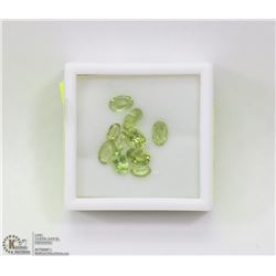 197) GENUINE PERIDOTS, ASSORTED OVALS, APPROX