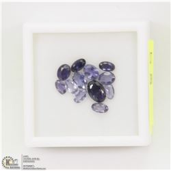 63) GENUINE IOLITES, 2.5-5MM OVALS, APPROX 3.4CTS