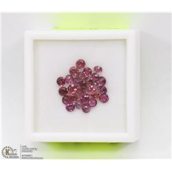 138) GENUINE GARNETS, ROUNDS, APPROX 4 CTS