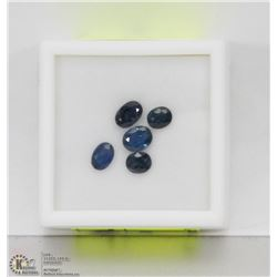 182) GENUINE SAPPHIRES, OVAL, APPROX 3 CTS