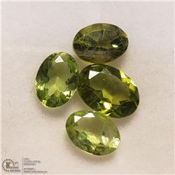 145) 4 PERIDOTS, OVALS, APPROX 4 CTS