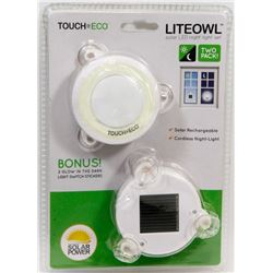 "NEW! ""LITEOWL"" SOLAR LED NIGHT LIGHT SET"