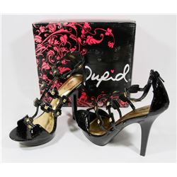 QUPID BLACK LIZARD SIZE 8.5 LADIES SHOES CACHET-24