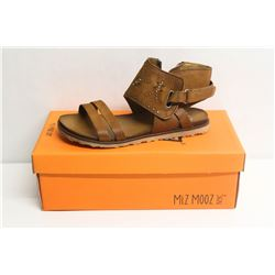 MIZ MOOZ NYC SZ 6 TO WHISKEY TIBBY LEATHER SANDALS