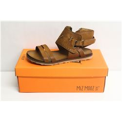 MIZ MOOZ NYC SZ 6.5 WHISKEY TIBBY LEATHER SANDALS