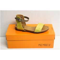 MIZ MOOZ NYC SZ 7 YELLOW ALANIS SANDALS