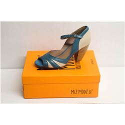 MIZ MOOZ NYC SZ 7 BLUE WEATHERLY PEEP-TOE PUMPS