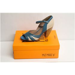 MIZ MOOZ NYC SZ 7.5 BLUE WEATHERLY PEEP-TOE PUMPS
