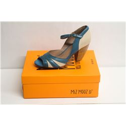 MIZ MOOZ NYC SZ 9 BLUE WEATHERLY PEEP-TOE PUMPS