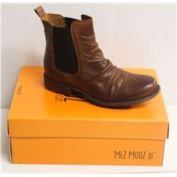 MIZ MOOZ NYC SZ 7.5 BRANDY LISSIE LEATHER BOOTS