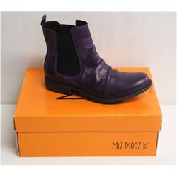 MIZ MOOZ NYC SZ 7 PURPLE LISSIE LEATHER BOOTS