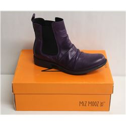 MIZ MOOZ NYC SZ 7.5 PURPLE LISSIE LEATHER BOOTS