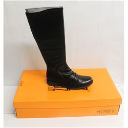 MIZ MOOZ NYC SZ 7 BLACK LISBON LEATHER BOOTS
