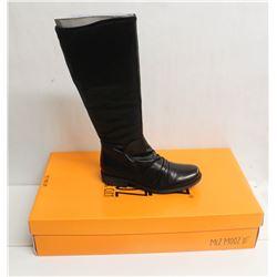MIZ MOOZ NYC SZ 7 BLACK LISBON LEATHER BOOTS
