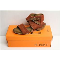 MIZ MOOZ NYC SZ 6.5 RUST CHATHAM LEATHER SANDALS