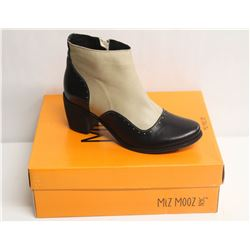 MIZ MOOZ NYC SZ 7.5 TWO-TONE LEATHER BOOTIE