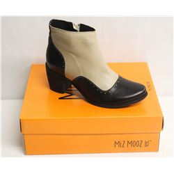 MIZ MOOZ NYC SZ 8.5 TWO-TONE LEATHER BOOTIE