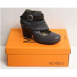 MIZ MOOZ NYC SZ 7.5 SLATE DALE LEATHER HEEL