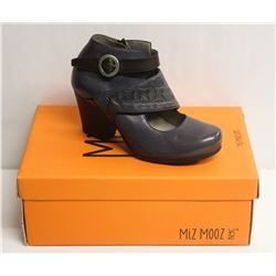 MIZ MOOZ NYC SZ 8.5 SLATE DALE LEATHER HEEL