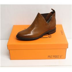 MIZ MOOZ NYC SZ 8.5 BRANDY TAFFY LEATHER BOOT