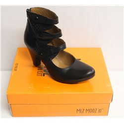 MIZ MOOZ NYC SZ 10 BLACK COAST LEATHER FASHION