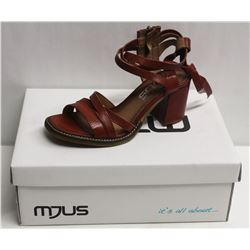 MJUS SZ 6.5 CANNELLA OPEN TOE HEELED SANDAL