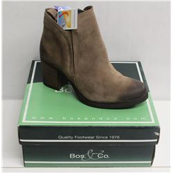 BOS. & CO. SZ 10 TAUPE BELFIELD HEELED ANKLE BOOT