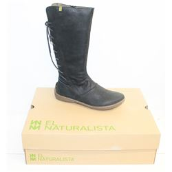 EL NATURALISTA SZ 9.5 PLEASANT BLACK BEE KNEE HIGH