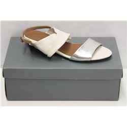 YUKO IMANISHI SZ 9 WHITE SLIVER SANDALS