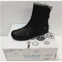 CLOUD SZ 7.5 BLACK ARYANA WOOL LINED BOOTS