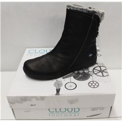 CLOUD SZ 8.5 BLACK ARYANA WOOL LINED BOOTS