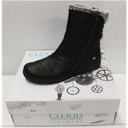 CLOUD SZ 9.5 BLACK ARYANA WOOL LINED BOOTS