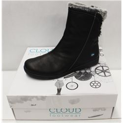 CLOUD SZ 10 BLACK ARYANA WOOL LINED BOOTS