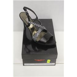 LAURA FERRI SZ 7.5 BLACK &WHITE SLINGBACK STILETTO
