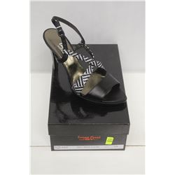 LAURA FERRI SZ 8.5 BLACK &WHITE SLINGBACK STILETTO