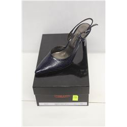 LAURA FERRI SZ 8.5 BLUE SLINGBACK STILETTO