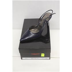 LAURA FERRI SZ 9.5 BLUE SLINGBACK STILETTO