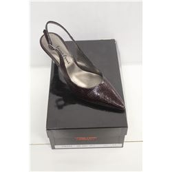 LAURA FERRI SZ 6.5 BROWN SLINGBACK STILETTO