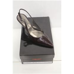 LAURA FERRI SZ 9 BROWN SLINGBACK STILETTO