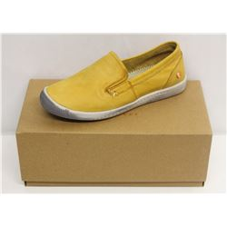 SOFTINOS SZ 6 WASHED LIGHT YELLOW LOAFER