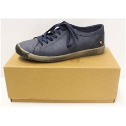 SOFTINOS SZ 7.5 ISLA WASHED LEATHER NAVY LOW TOP