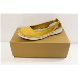 SOFTINOS SZ 6.5 WASHED LIGHT YELLOW FLATS