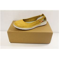 SOFTINOS SZ 9.5 WASHED LIGHT YELLOW FLATS