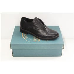 BUENO SZ 6 BLACK LEATHER PATTY SHOES