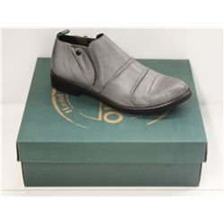 BUENO SZ 9.5 DOVE GREY LEATHER PINA SHOES