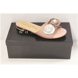 ATELIERS SZ 6 ROSE LEATHER SILAS SANDAL / FLATS
