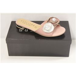 ATELIERS SZ 6.5 ROSE LEATHER SILAS SANDAL / FLATS