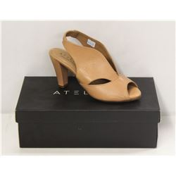 ATELIERS SZ 6.5 SOFTY NUDE DOWNEY-LEATHER HEELS